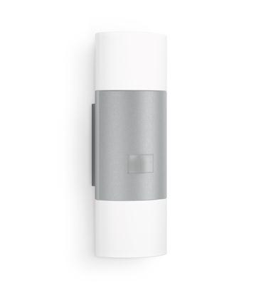 Buiten LED-wandlamp met bewegingsmelder 11 W Warm-wit Zilver Steinel 910 576219