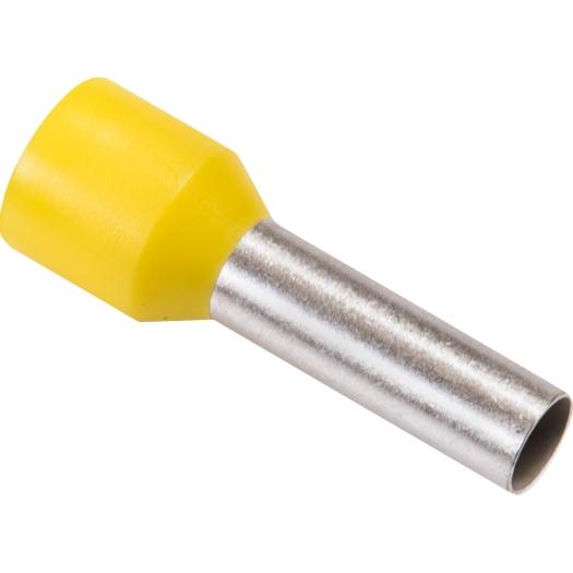 Eindaderhulzen geisoleerd 60 mm 20.0 12.0 mm geel 100 stuks