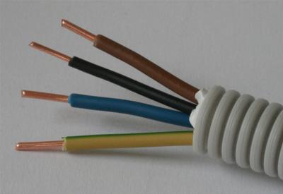 Flexibele buis 16mm met draad BR BL GG 25mm 1 x ZW 15mm rol 100 meter
