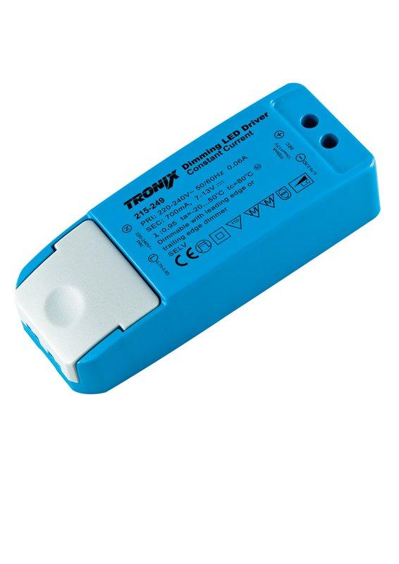 LED driver 700mA 9W 700mA 215-249 Tronix dimbaar