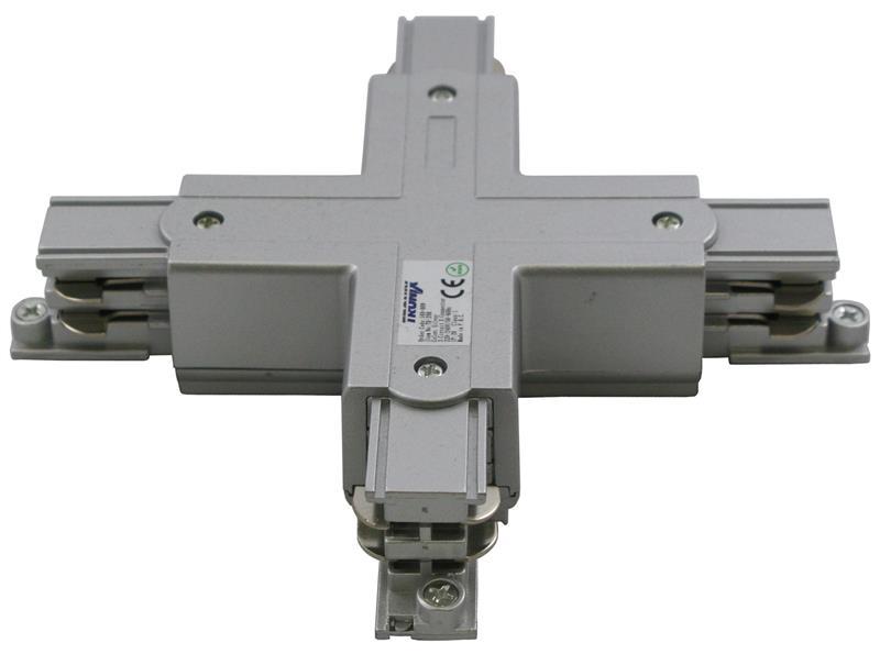 Kruiskoppeling X voor een spanningsrail aluminium 169-009