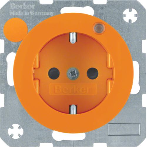 Berker wandcontactdoos LED controlelamp R1-R3 oranje