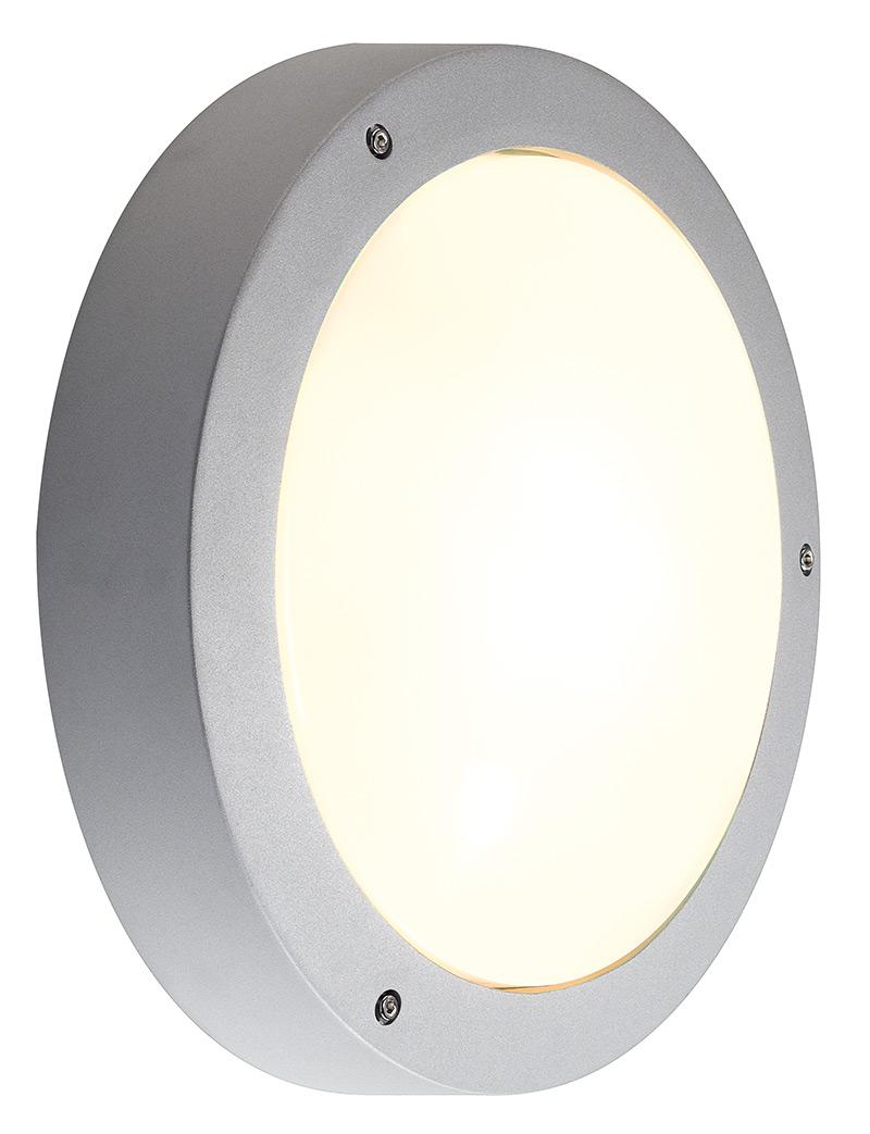 Plafond/ wandlamp DRAGAN SENSOR zilvergrijs 2xE27