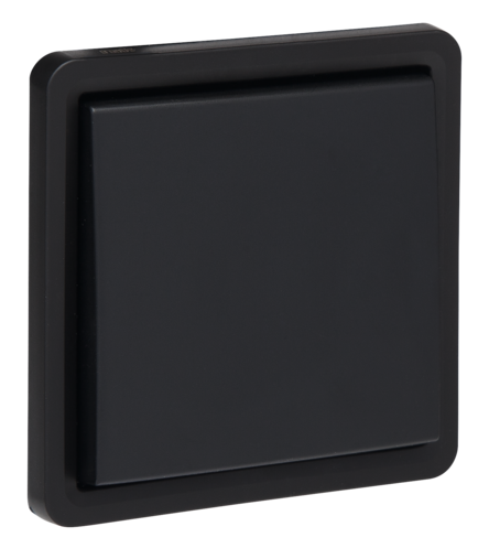 Niko Hydro niet verlichtbare drukknop waterdicht zwart Beldrukker pulsdrukker