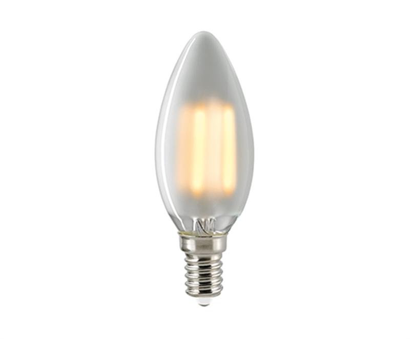 LED kaarslamp 430 lumen 2700K E14 4W lumen mat glas dimbaar