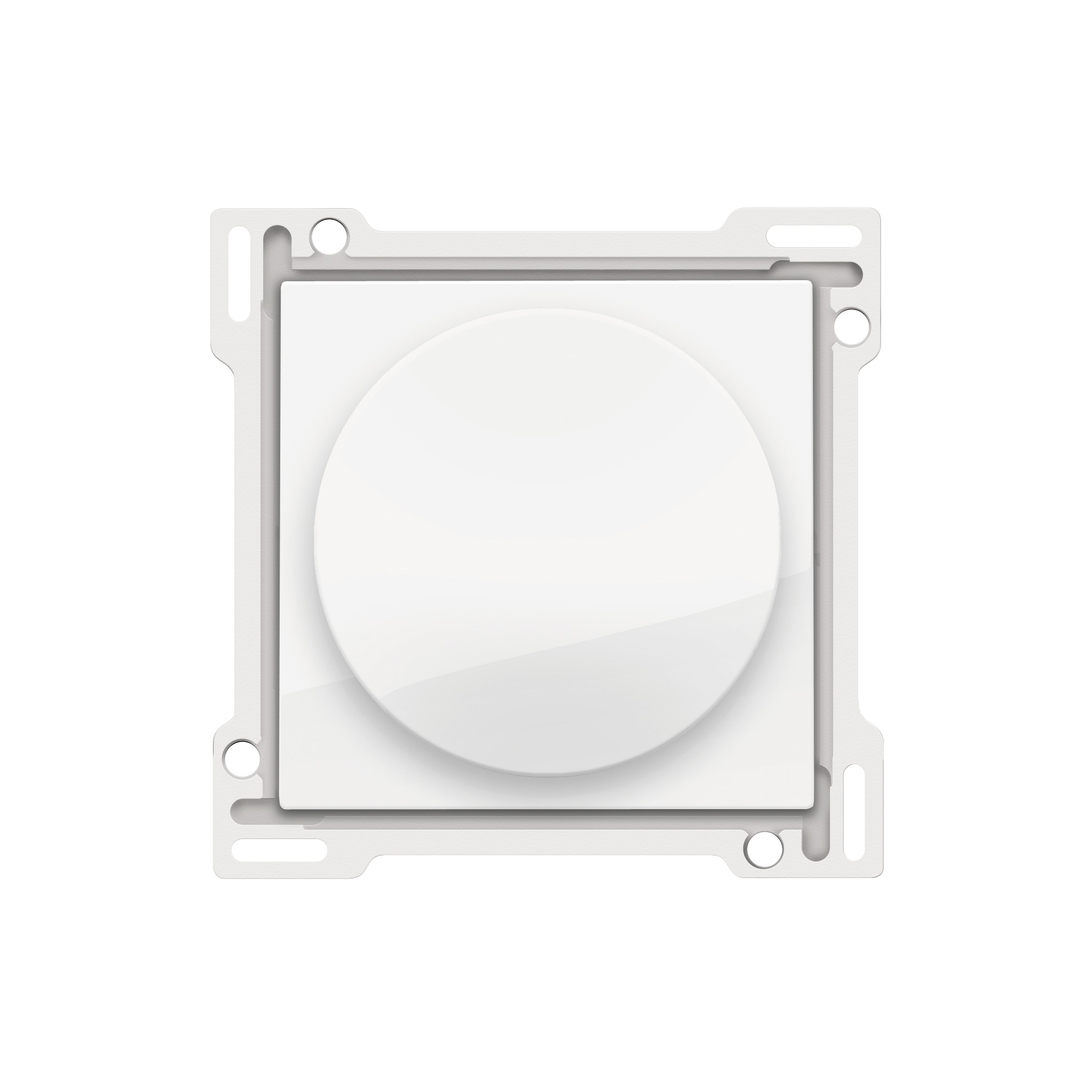 Niko Original centraalplaat met 1-2-3 standen draaiknop voor motoren bright white