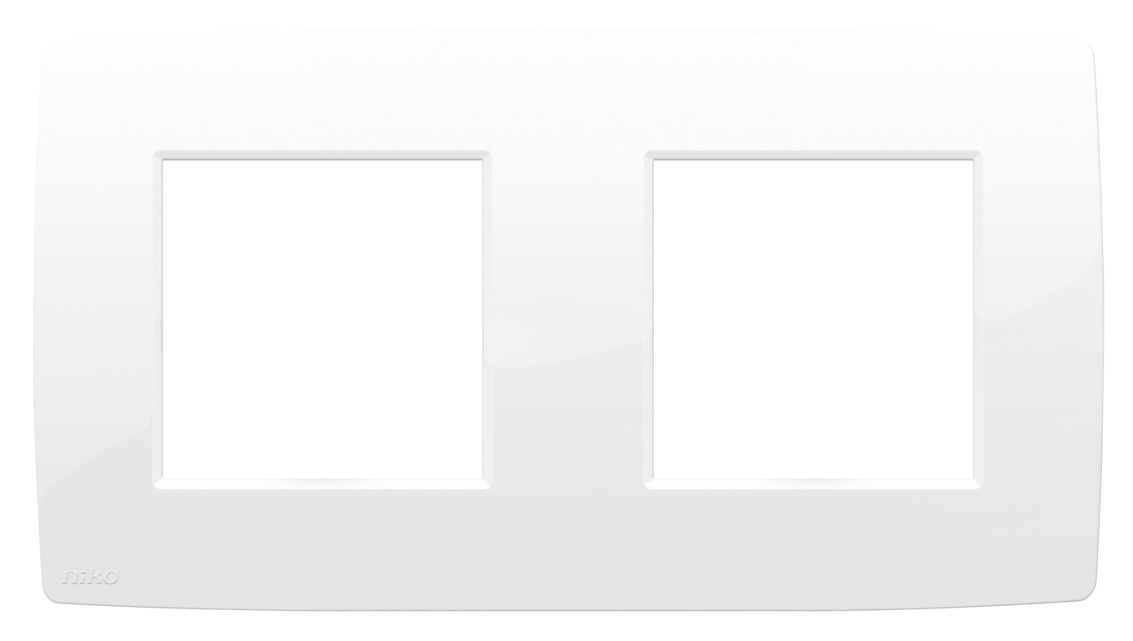 Niko Original tweevoudige afdekplaat bright white