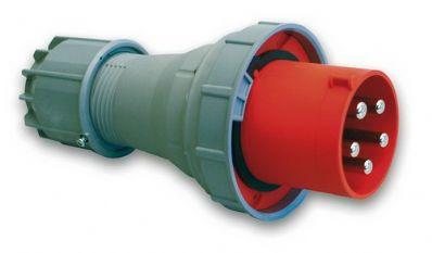 CEE Stekker 5 Polig 125A rood IP67 400V ABL