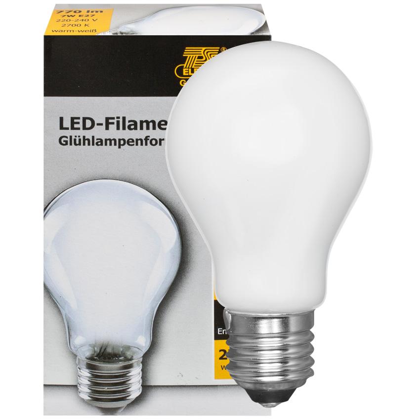 LED lamp 6W 770 lumen 2700K E27 AGL mat 230V