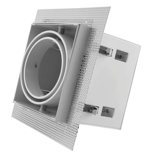 Wit trimless armatuur inbouw voor AR70 LED spot draaibaar en kantelbaar wordt v