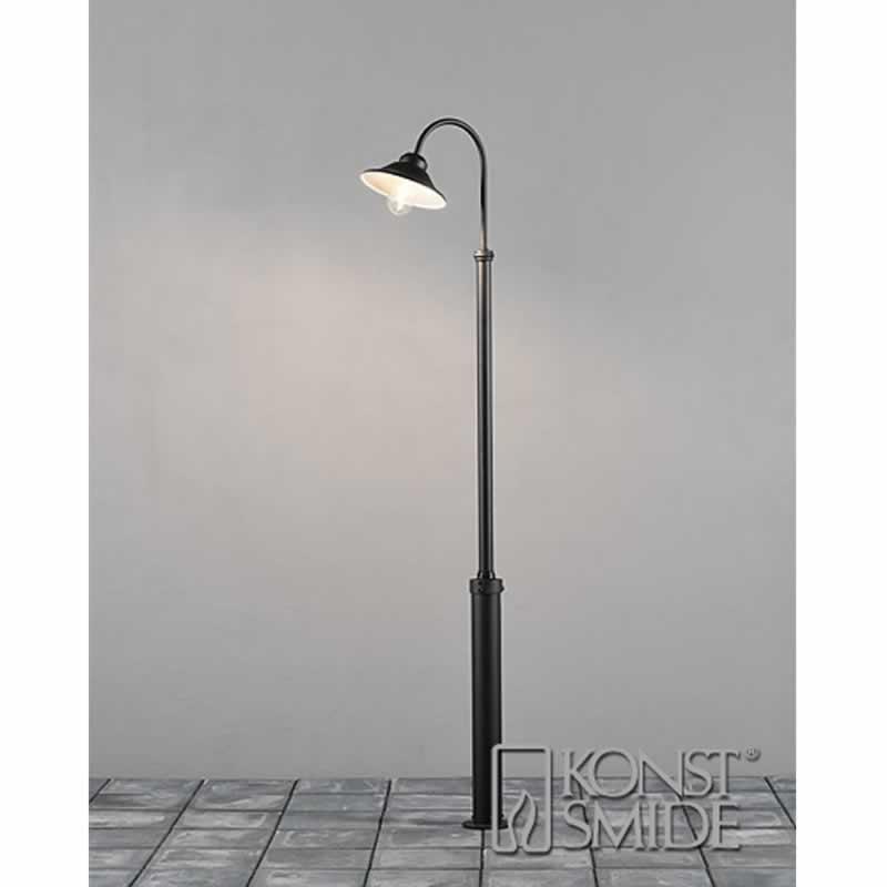 Staande buitenlamp Spaarlamp, LED E27 60 W Konstsmide Vega 560-750 Zwart