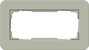 Gira afdekraam 2 voudig ZM E3 grijs groen-zuiverwit