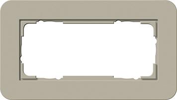 Gira afdekraam 2 voudig ZM E3 grijs beige-antraciet