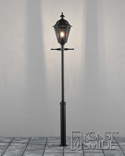 Lantaarnpaal Pallas 1-lichts 260 cm matzwart 550-750