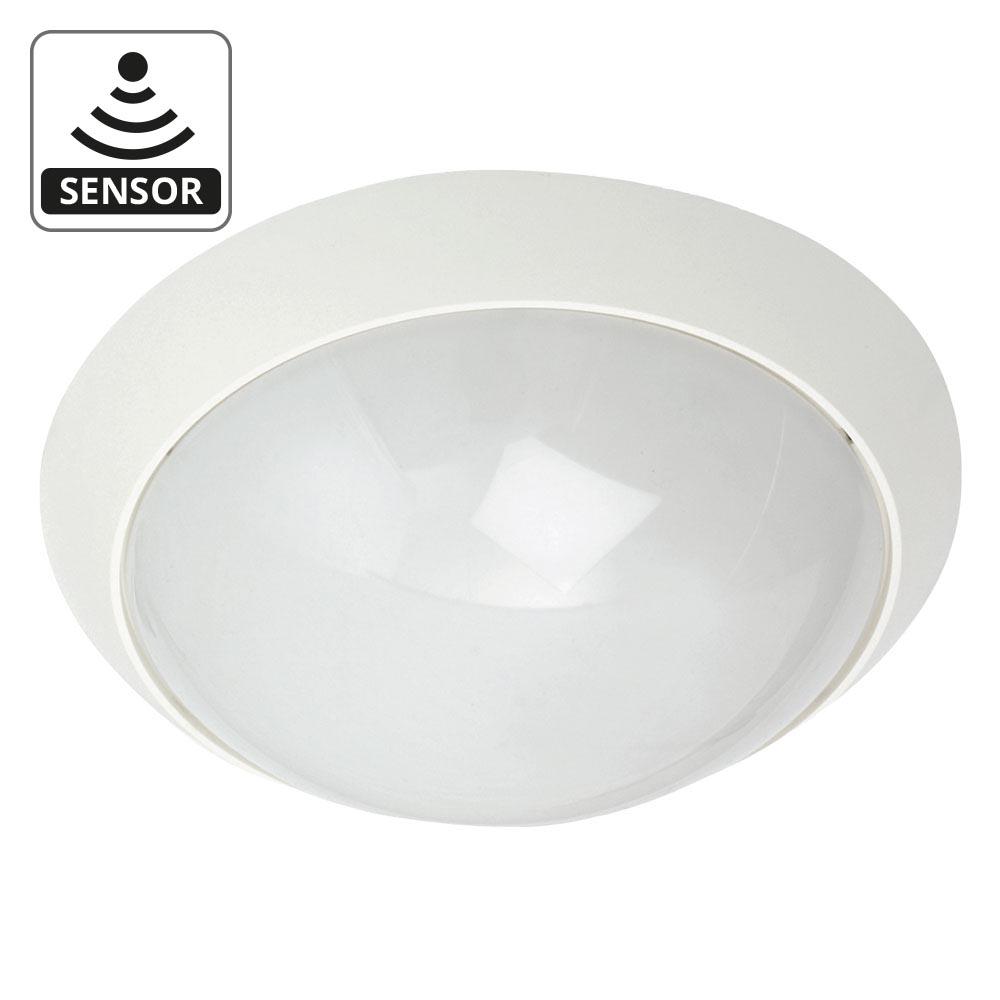 Wandarmatuur 35cm E27 wit sensor SG Econ MIDI ALU rond SG verlichting