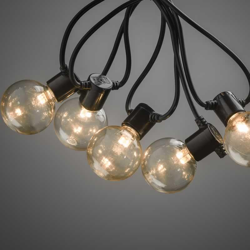Konstsmide 2378-800 Party-lichtketting Buiten werkt op het lichtnet Gloeilamp, LED Bont Verlichte lengte: 4.5 m