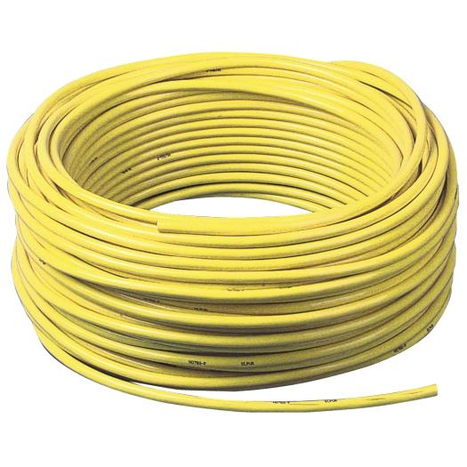 PUR kabel H07BQ F 3 x 15mm kleur Geel 50 meter
