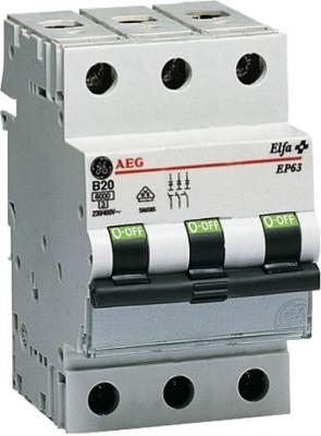 AEG installatie automaat 3 polig EP63 C karakteristiek C25 A