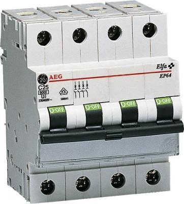 AEG installatie automaat 4 polig EP63 N C karakteristiek C16 A
