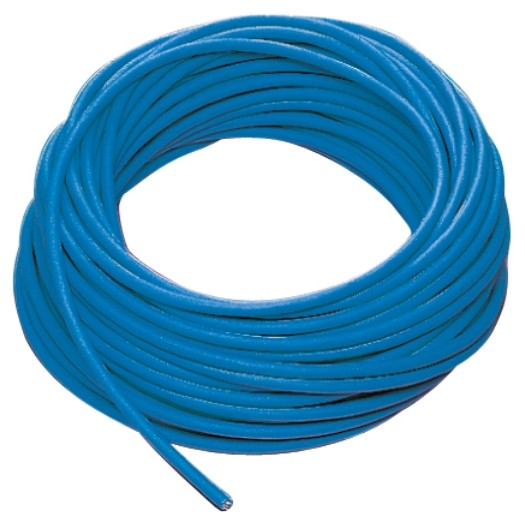 PUR kabel H07BQ F 3 x 15mm kleur Blauw 50 meter