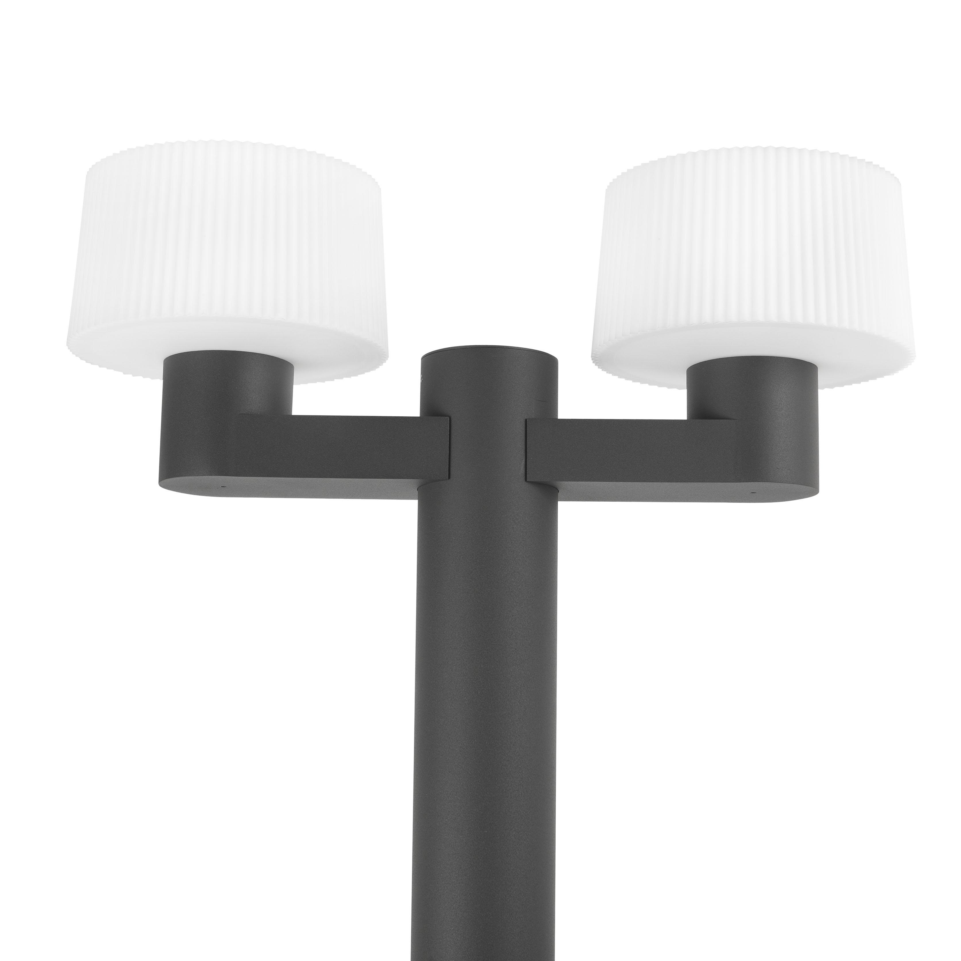 Lantaarnpaal met 2 Muffin lampen aluminium 74435-74429 ESR