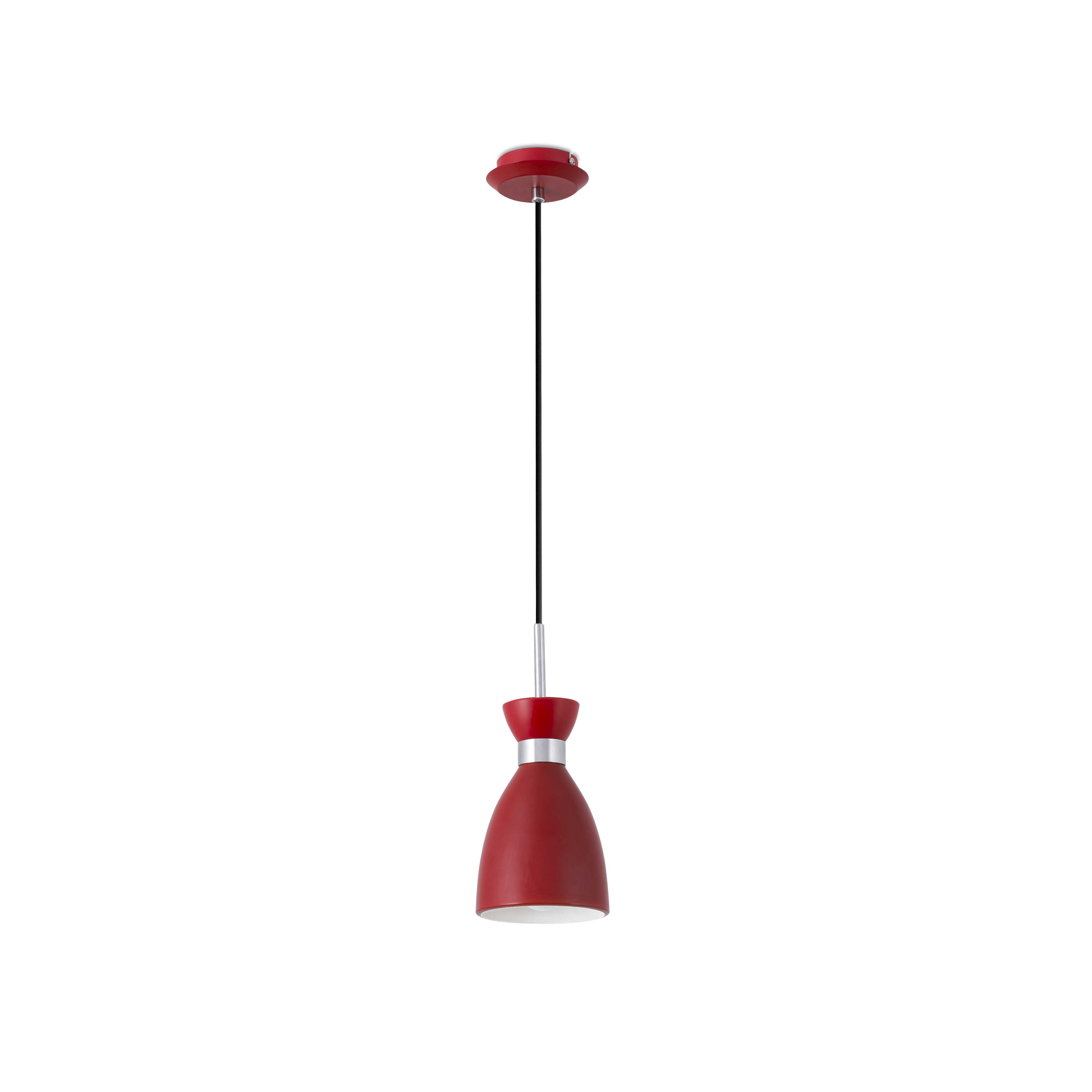 Hanglamp rood retro design E14 20018