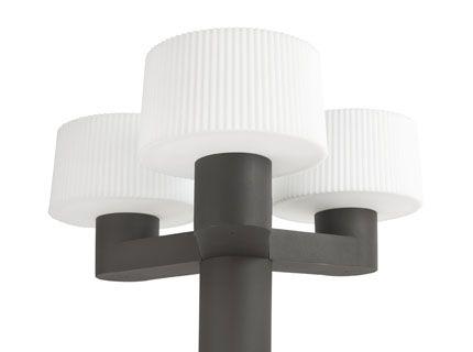 Lantaarnpaal met drietal Muffin lampen aluminium 74435-74429 ESR
