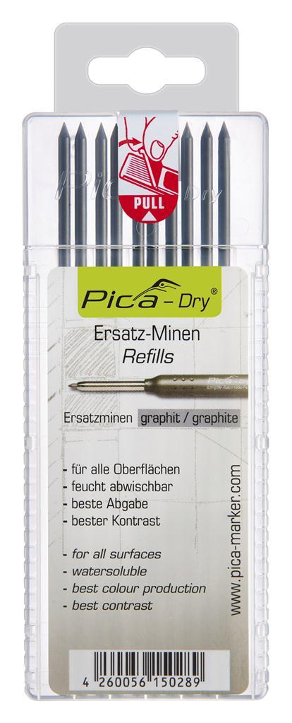 Pica Navulling grafiet 4030 Dry 10st. blister