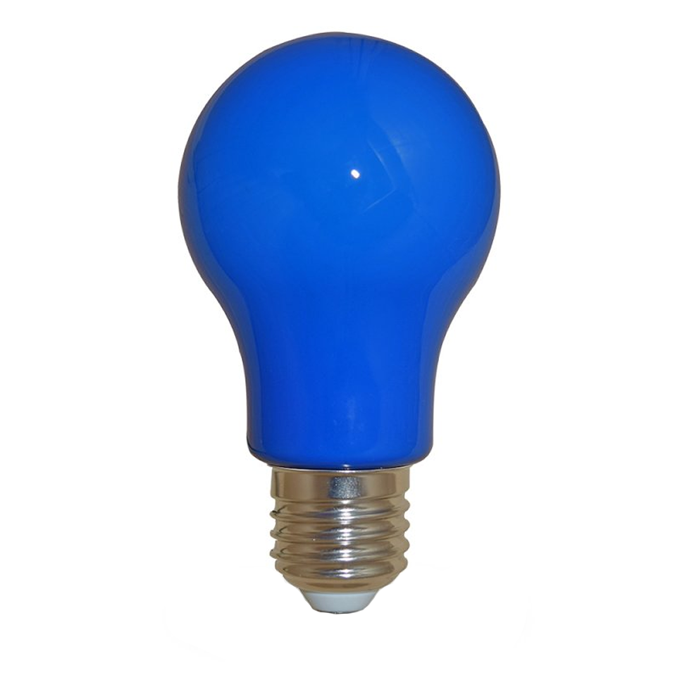 Led lamp blauw e27 feestverlichting prikkabel for Gekleurde led lampen e27