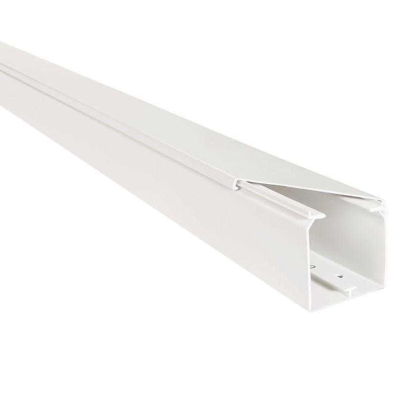 Kabelgoot wit 40x40mm halogeenvrij RAL 9010 in folie verpakt Canalit 958720
