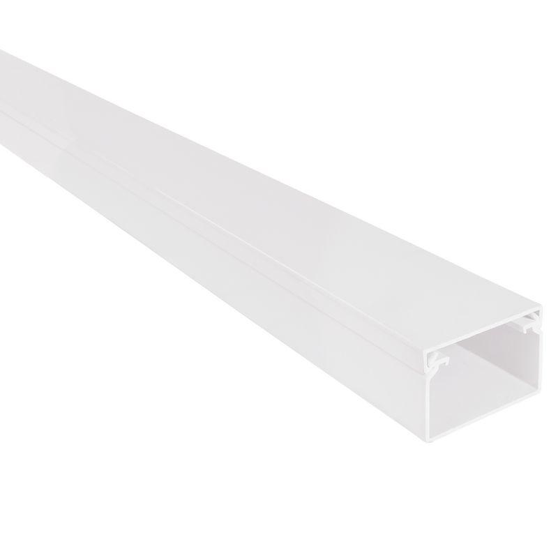Kabelgoot wit 60x40mm halogeenvrij RAL 9010 in folie verpakt Canalit 958730