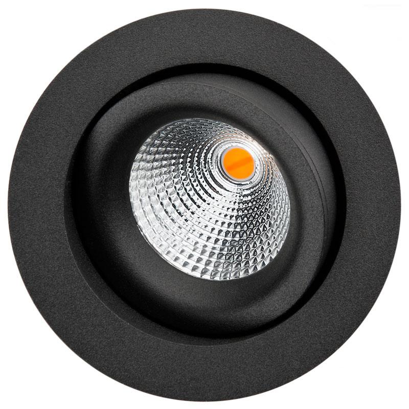 LED inbouwspot 6W zwart draai en kantelbaar 2000 tot 2800K SG 901233