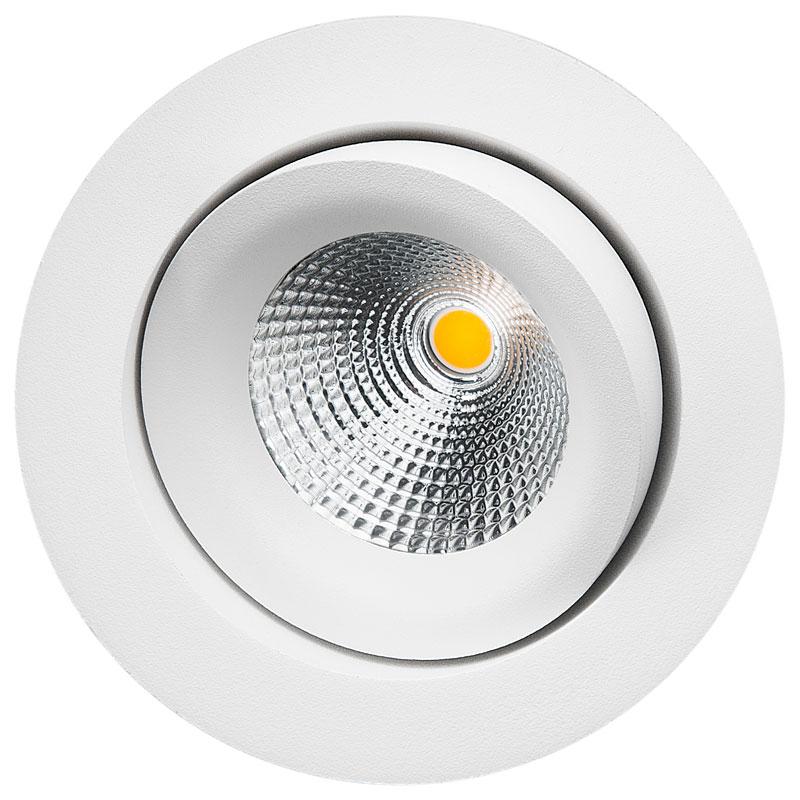 LED inbouwspot 540 lumen 6W wit draai en kantelbaar DALI dimbaar 2000 tot 2800K