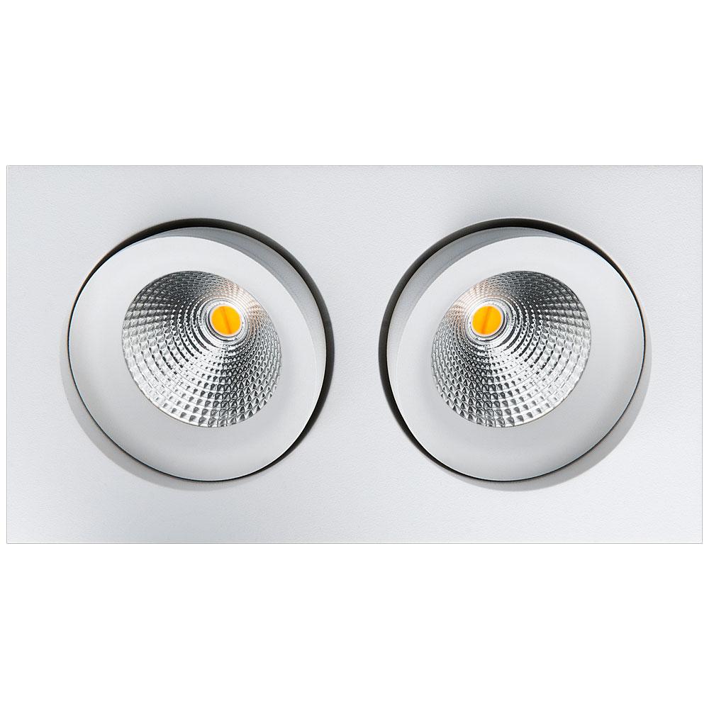 LED inbouwspot 1020 lumen 2x6W wit draai en kantelbaar 2000 tot 2800K SG 901261
