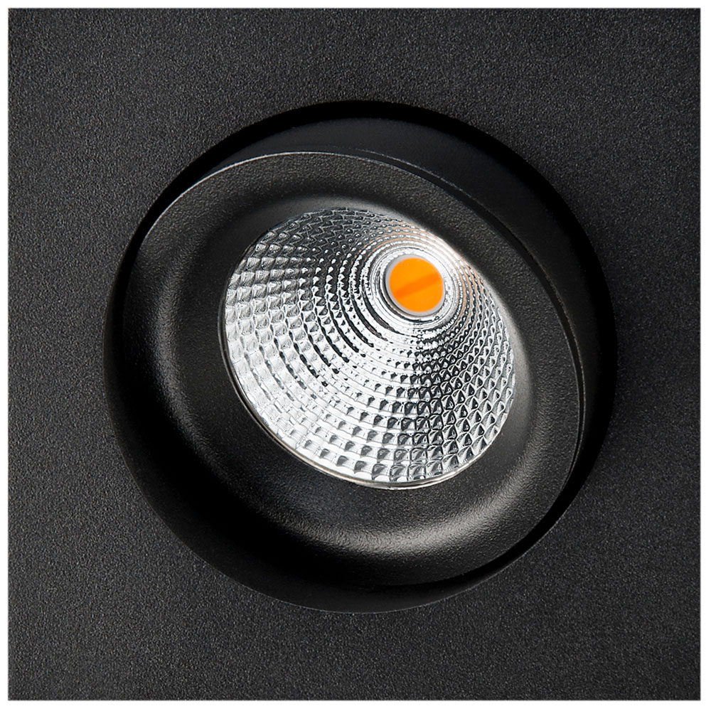 LED inbouwspot 540 lumen 6W zwart draai en kantelbaar 2000 tot 2800K IsoSafe SG