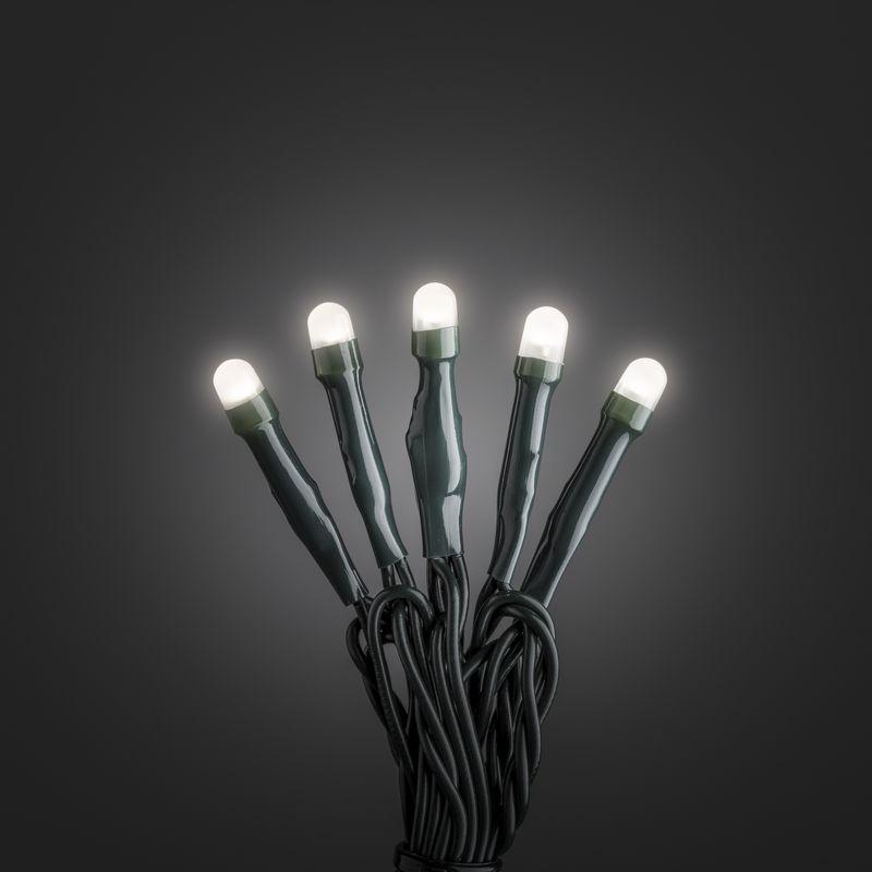 Mini LED kerstverlichting voor binnen 50 lampjes mat warm wit 6 meter