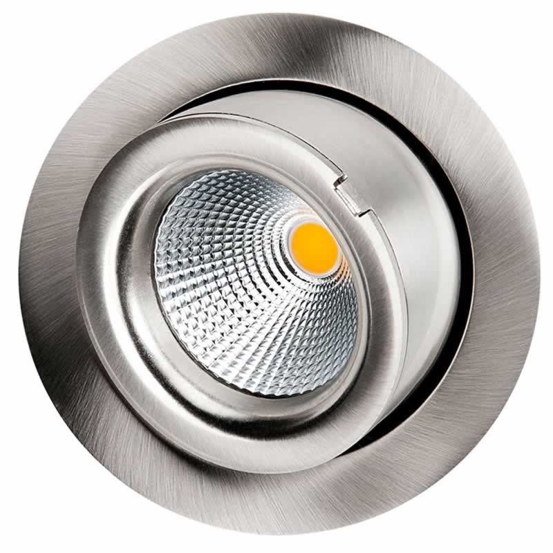 LED inbouwspot 9W 4000K 800 lumen geborsteld staal kantelbaar exclusive SG 903402