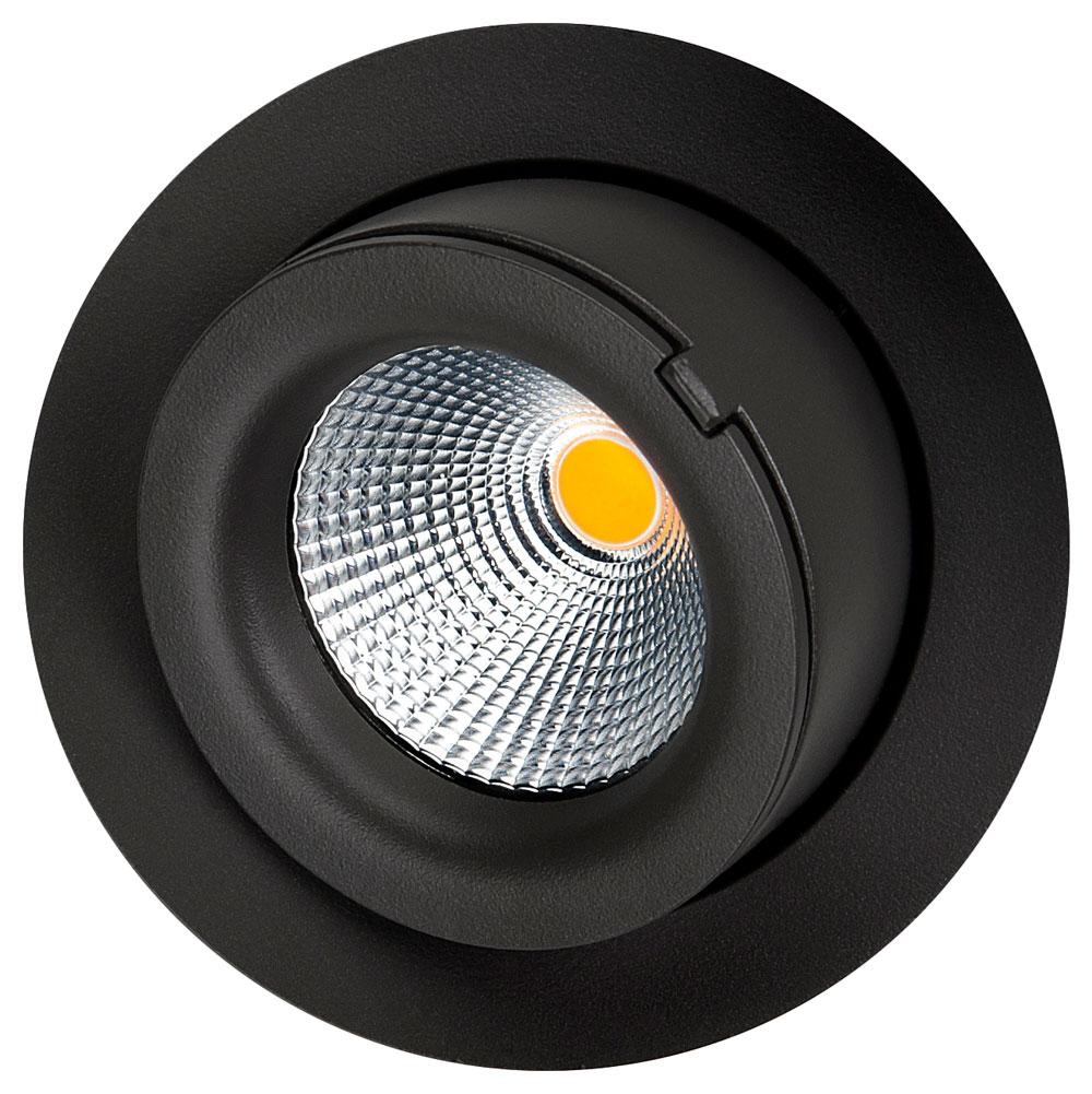 LED inbouwspot 9W 4000K 800 lumen mat zwart kantelbaar outdoor SG 903403