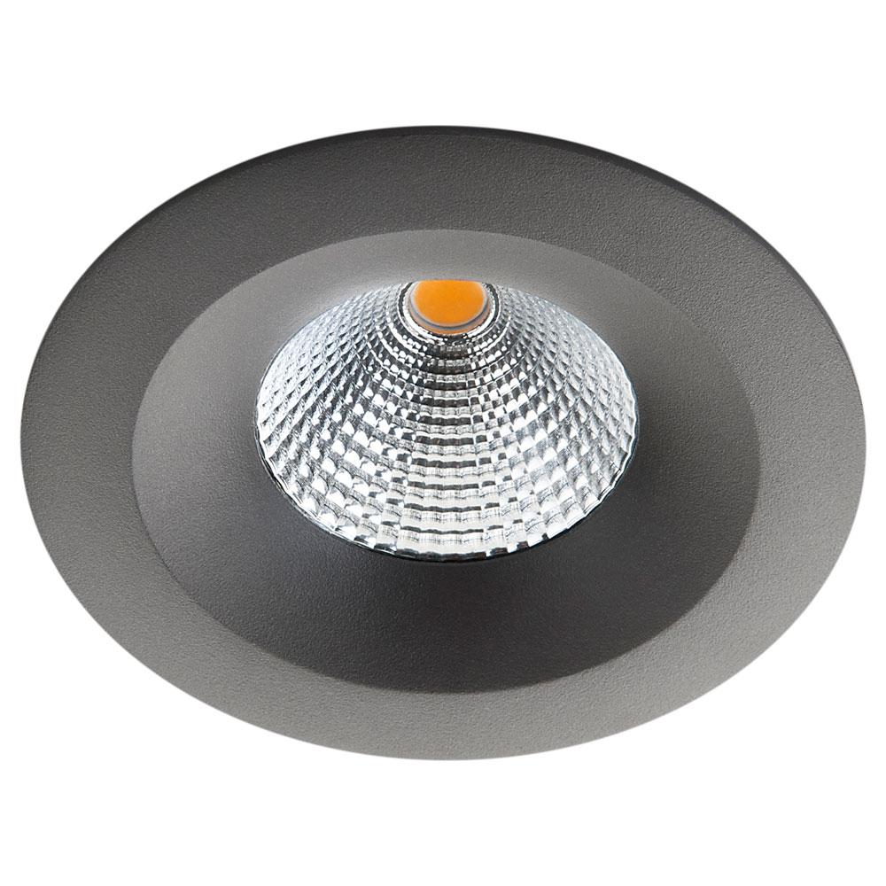 LED inbouwspot 7W 540 lumen grafiet UNILED 2000K tot 2800K isosafe IP54 SG 90421
