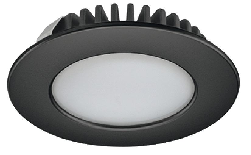 LED inbouwspot 3.2W 142 lumen 3000K 55mm zwart