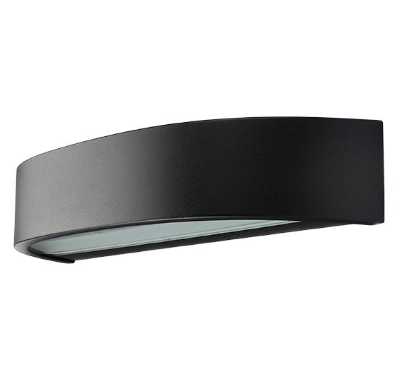 SG Curve Direct LED mat zwart 10W 3000K dimbaar IP65 IK06 614366