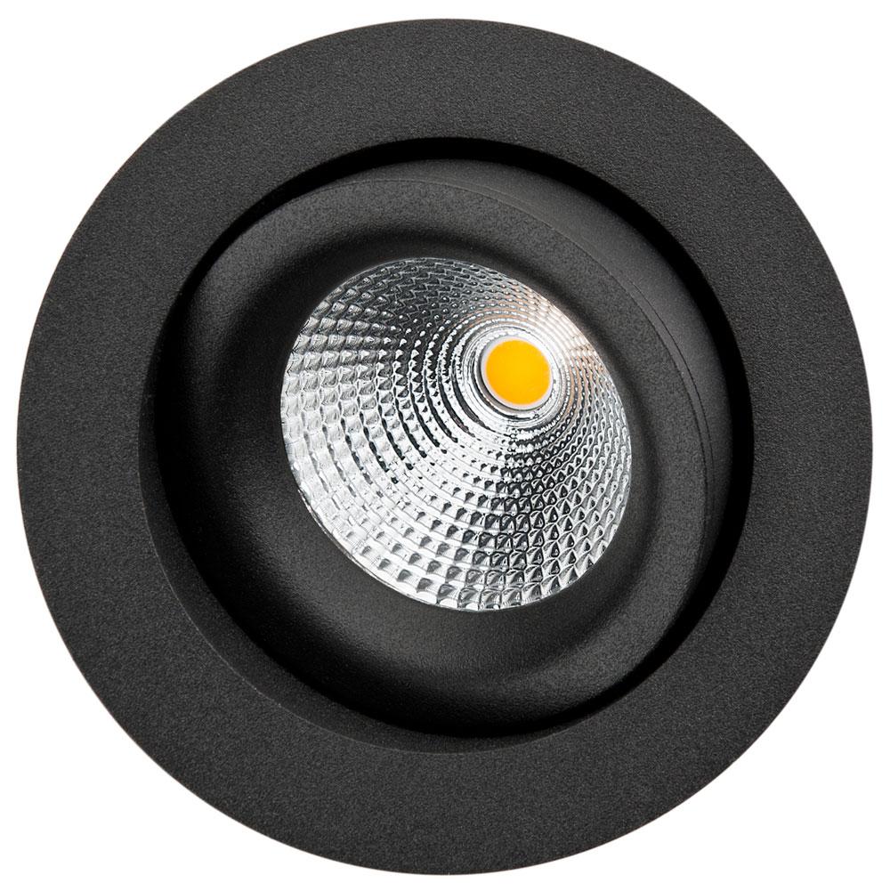 LED inbouwspot 625 lm 6W 3000K zwart dimbaar IsoSafe SG 901303