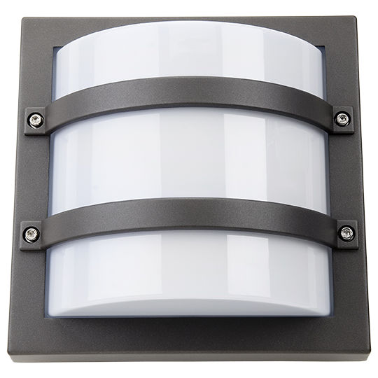 SG Largo LED Wandlamp E27 vierkant grafiet IP65 IK10 623560