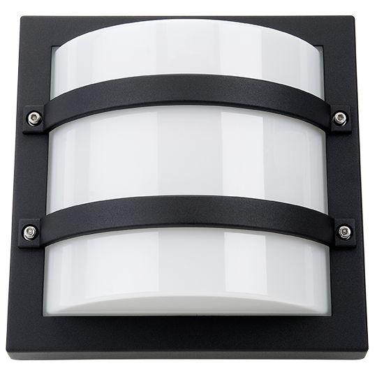 SG Largo LED Wandlamp 10W 3000K mat zwart IP65 IK10 614569