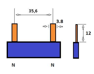 SEP Verdeelkam 1f pin 2 mod 36mm blauw P01102B00