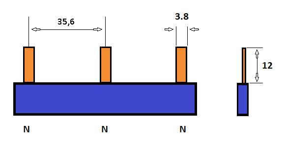 SEP Verdeelkam 1f pin 3 mod 36mm blauw P01103B00