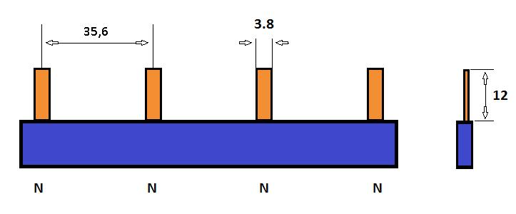 SEP Verdeelkam 1f pin 4 mod 36mm blauw P01104B00