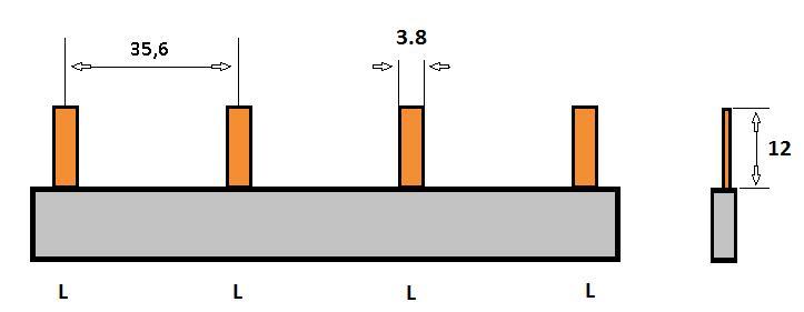 SEP Verdeelkam 1f pin 4 mod 36mm grijs P01104G00