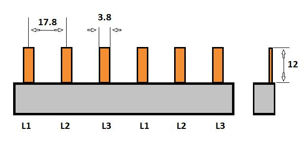 SEP Verdeelkam 3f pin 6 mod 18mm grijs P03006G00