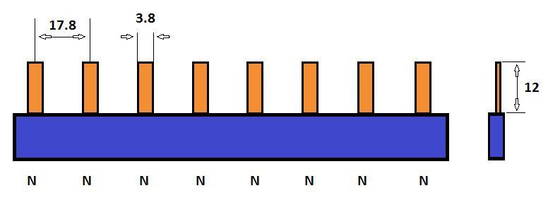 SEP Verdeelkam 1f pin 8 mod 18mm blauw P01008B00